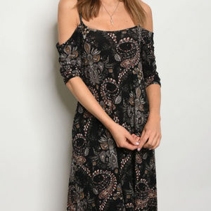 Dresses - COLD SHOULDER TUNIC DRESS